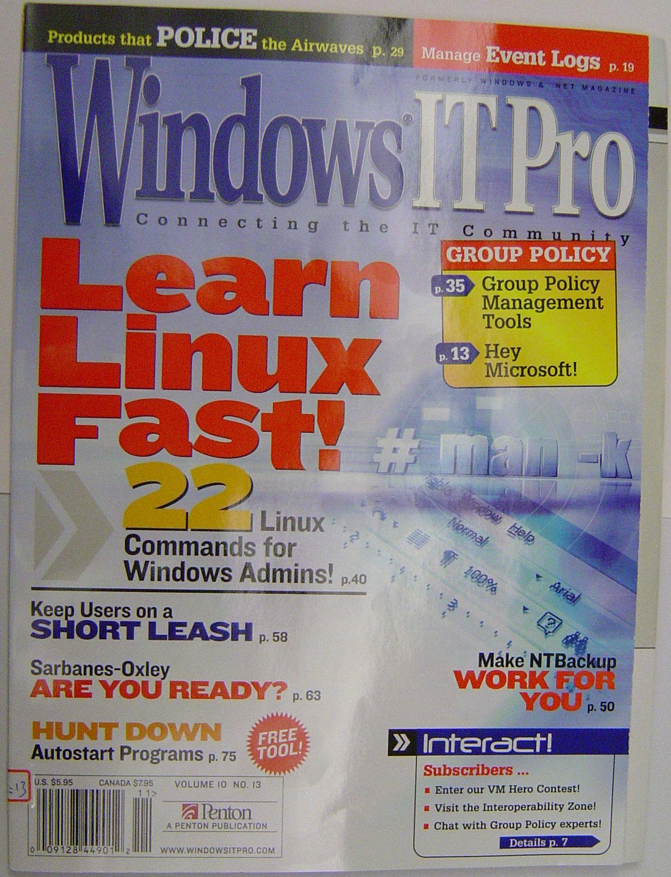 Windows IT Pro 封面
